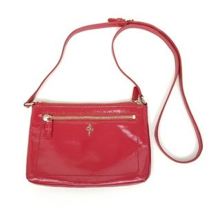 Cole Haan | patent leather | red | crossbody